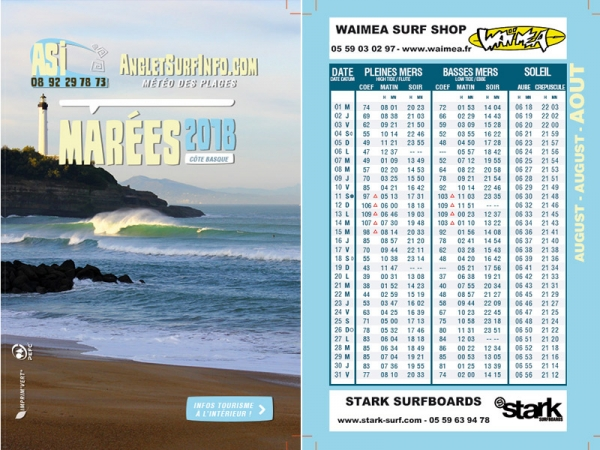Calendrier Maree Biarritz.Marees Du Mois Aout 2018 Anglet